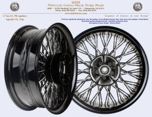 17x6.25, Apollo-SL, Cross-Radial, Fat cross spokes, Vivid Black, For 2009 and up Touring