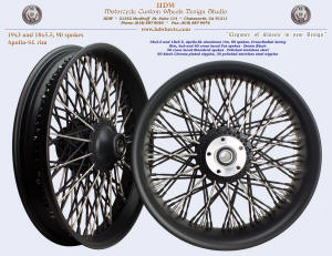 19x3.0 and 18x5.5, Apollo-SL, Cross-Radial, Fat spokes, Denim Black and Polished