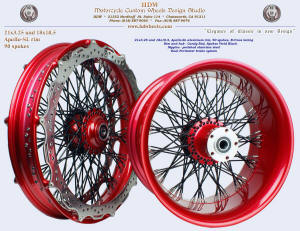 21x3.25 and 18x10.5, Apollo-SL, B-Cross, Candy Red, Vivid Black, Perimeter brakes