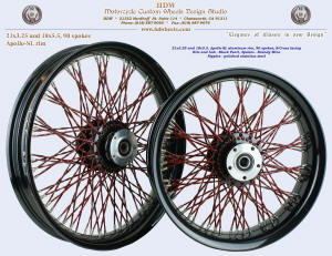 21x3.25 and 18x5.5, Apollo-SL, B-Cross, Twisted spokes, Black Pearl, Brandy Wine