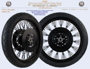 21x3.5, Apollo, B-Cross, Vivid Black, Composite black rotors, 120/70-21 tire