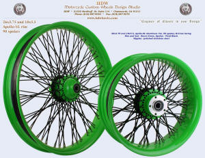 26x3.75 and 18x5.5, Apollo-SL, B-Cross, Racer Green, Vivid Black